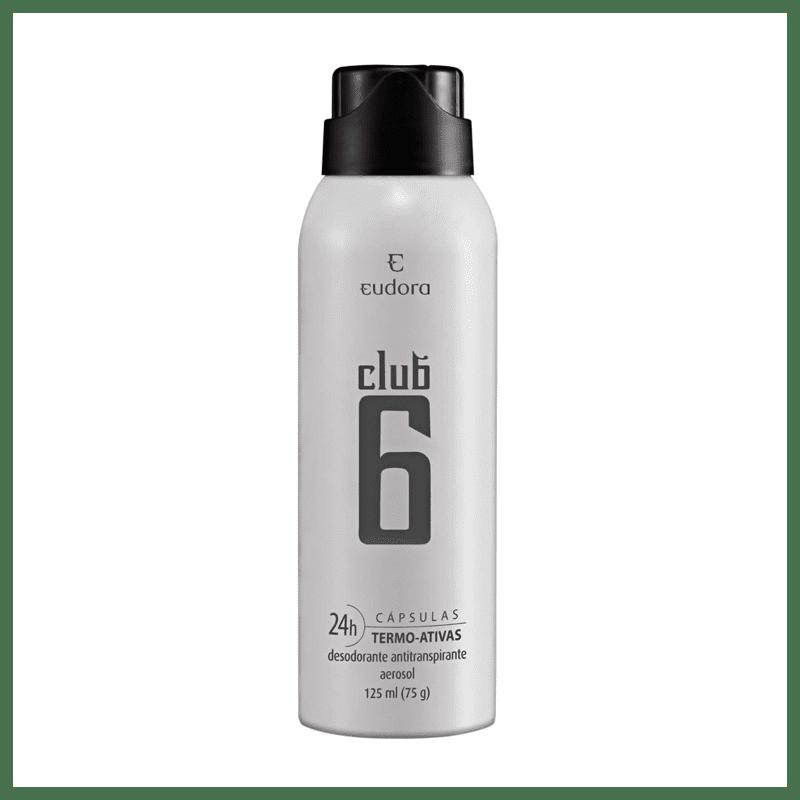 Club 6 Desodorante Antitranspirante Aerossol Masculino 125ml