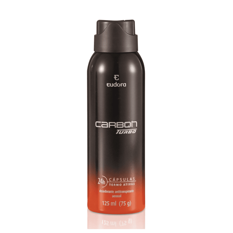 Carbon Turbo Desodorante Antitranspirante Aerossol Masculino 125ml
