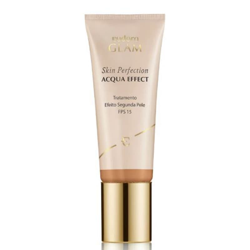 Base Líquida Glam Skin Perfection Acqua Effect Bege Escuro 1 30ml