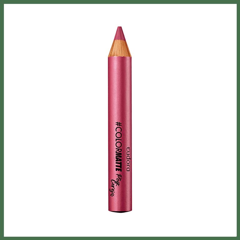 Batom Lápis Color Matte Soul Pink Cereja 1,2g