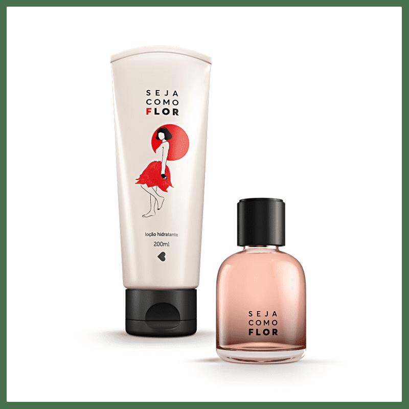 Kit Seja Como Flor: Desodorante Colônia 75ml + Desodorante Loção Hidratante Corporal