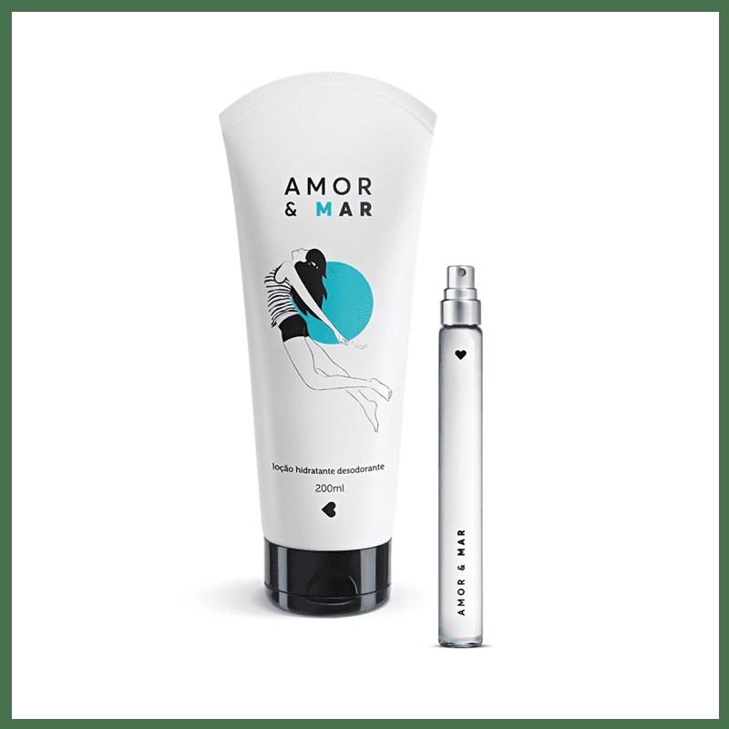 Kit Amor e Mar: Desodorante Colônia 10ml + Desodorante Loção Hidratante Corporal