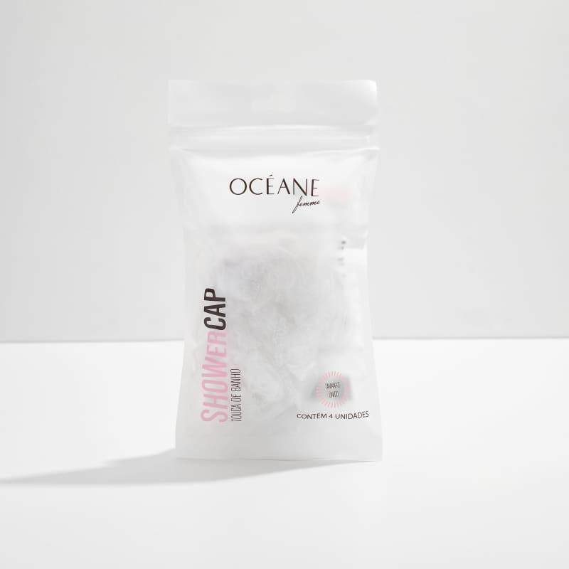 Shower Cap Transparente - Touca de Banho (4 Unidades)