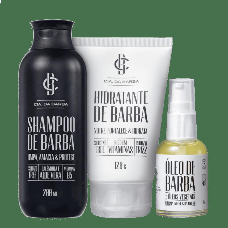 Kit Barba Cia da Barba Tratamento Completo (3 produtos)