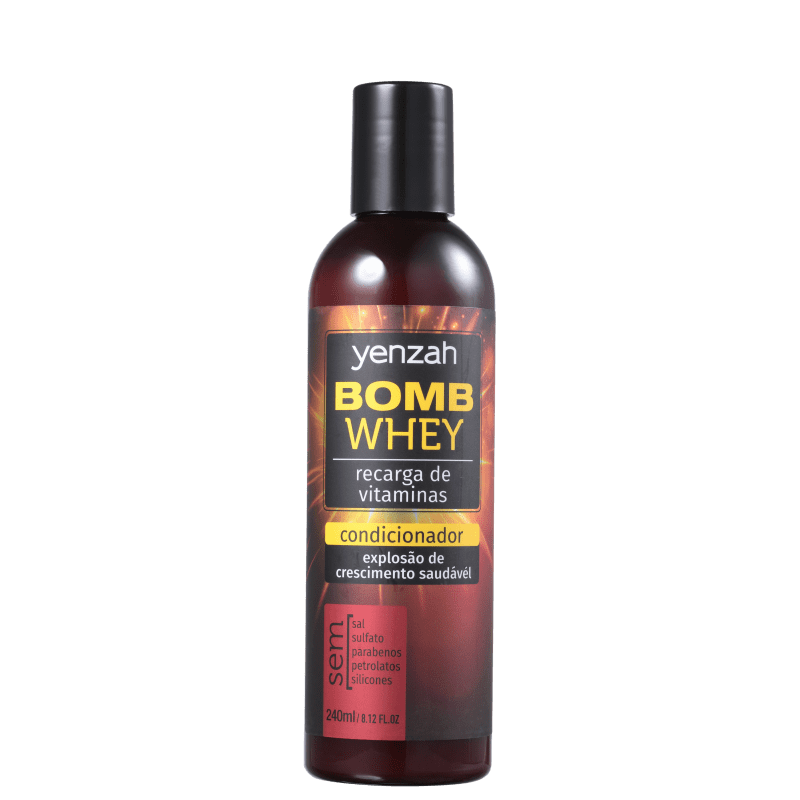 Yenzah Power Whey Bomb Cream - Condicionador 240ml
