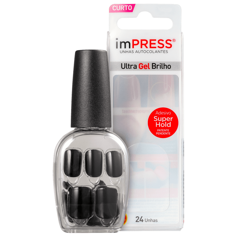 Kiss New York Impress Curta Text Appeal - Unhas Postiças