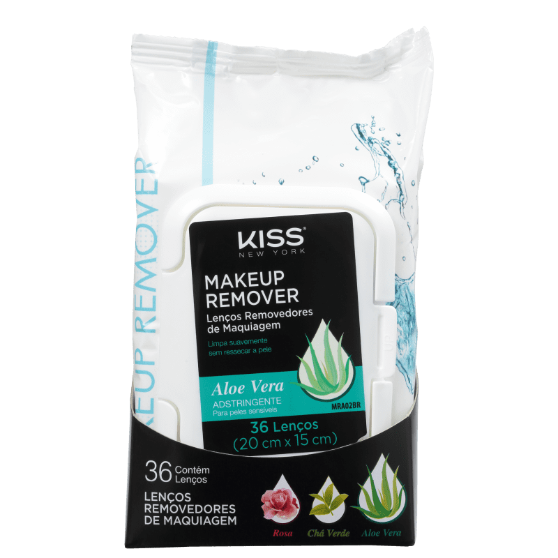 Kiss New York Aloe - Lenço Demaquilante 200g