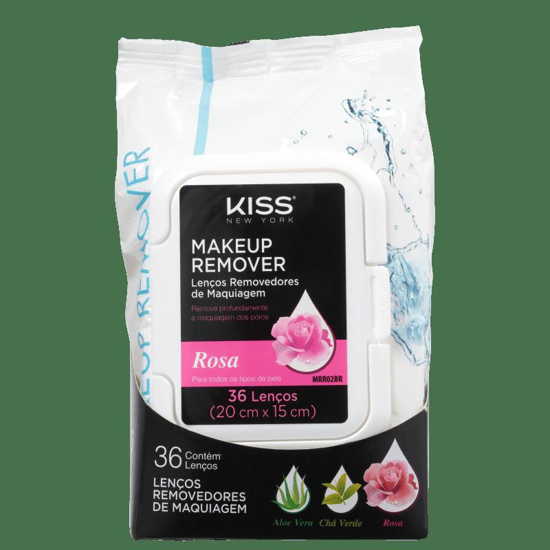 Kiss New York Rosa - Lenço Demaquilante 200g