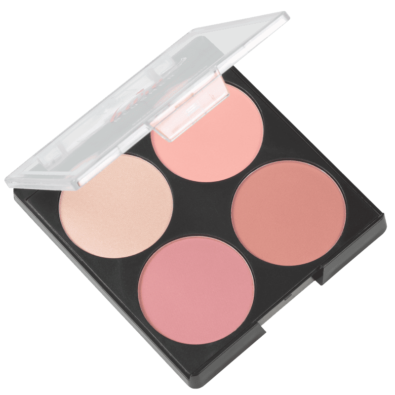 Kiss New York Ruby Kisses Bare Blusher Baring Bare - Paleta de Blush 14,8g