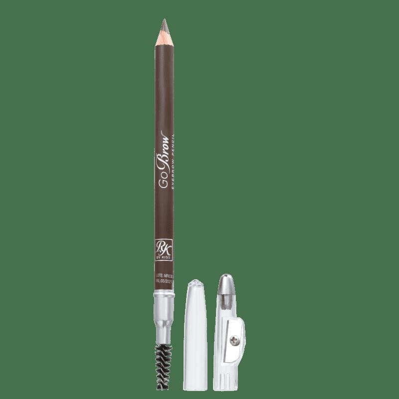 Kiss New York Ruby Kisses GoBrow Light Medium Brown - Lápis para Sobrancelha 1,25g