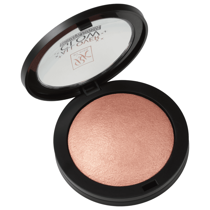 Kiss New York Ruby Kisses All Over Glow Flushed - Bronzer Cintilante 15g