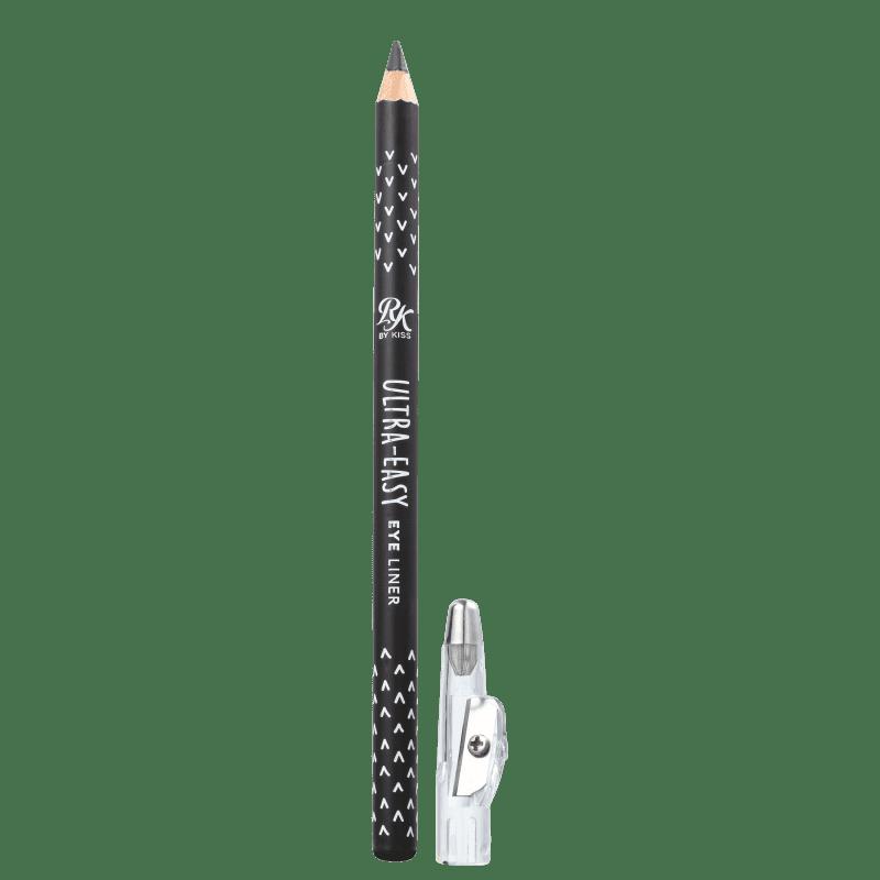 Kiss New York Ruby Kisses Ultra-Easy Black - Lápis de Olho com Apontador 1,5g