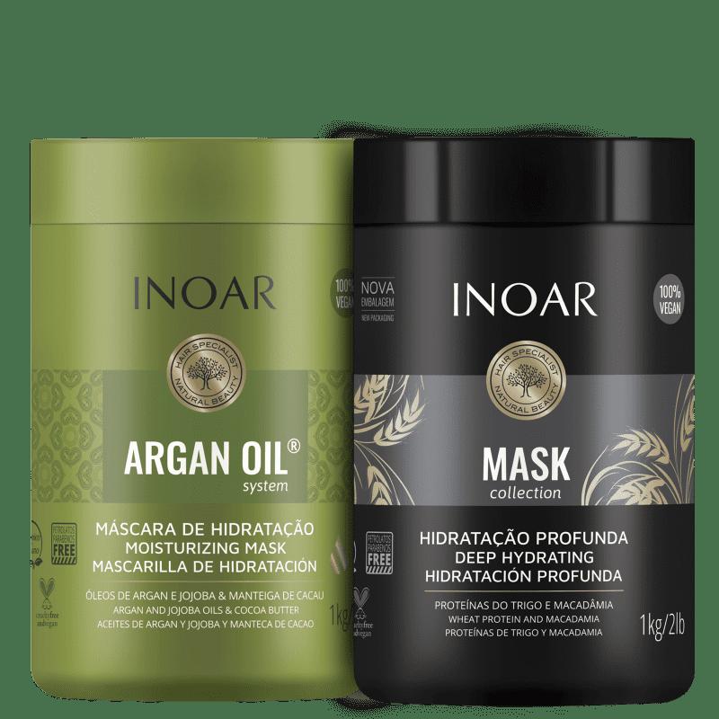 Kit Inoar Argan Oil Mask (2 Produtos)