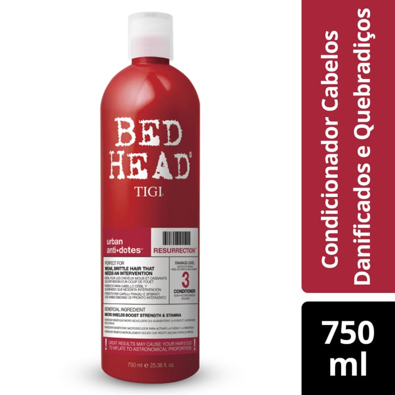 Condicionador Bed Head Urban Anti+Dotes #3 Resurrection 750ml
