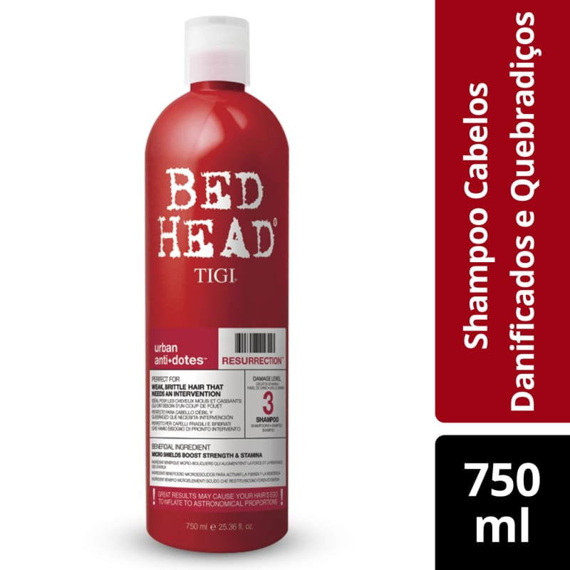 Shampoo Bed Head Urban Anti+Dotes #3 Resurrection 750ml