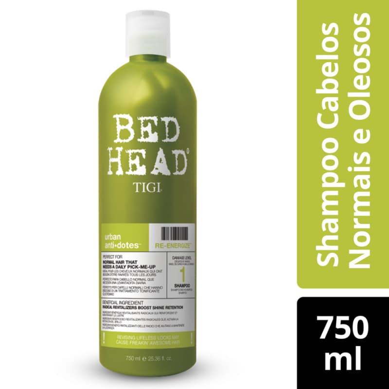 TIGI Bed Head Urban Anti+Dotes 1 Re-Energize Salão - Shampoo 750ml