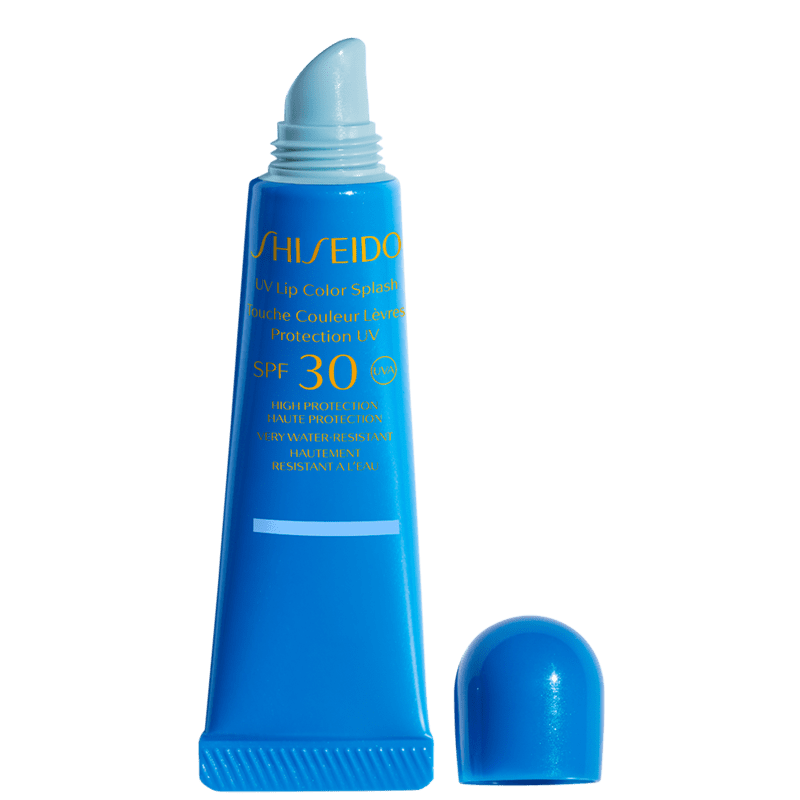 Shiseido UV Lip Color Splash FPS 30 Tahiti Blue - Gloss Hidratante 10ml