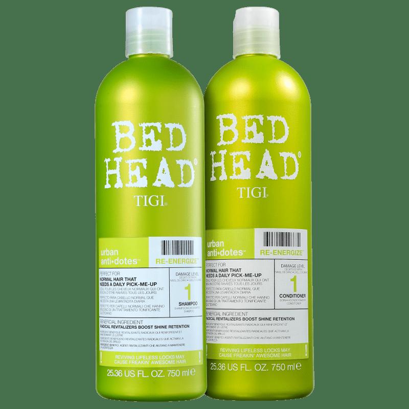 Kit TIGI Bed Head Urban Anti+Dotes 1 Re-Energize Duo Salão (2 Produtos)