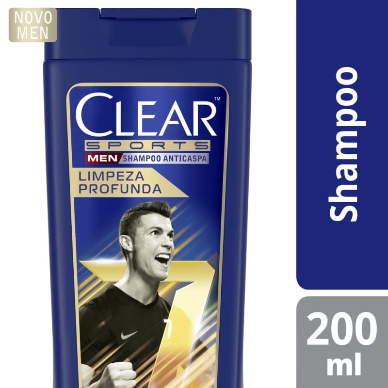 Clear Sports Men Limpeza Profunda - Shampoo Anticaspa 200ml