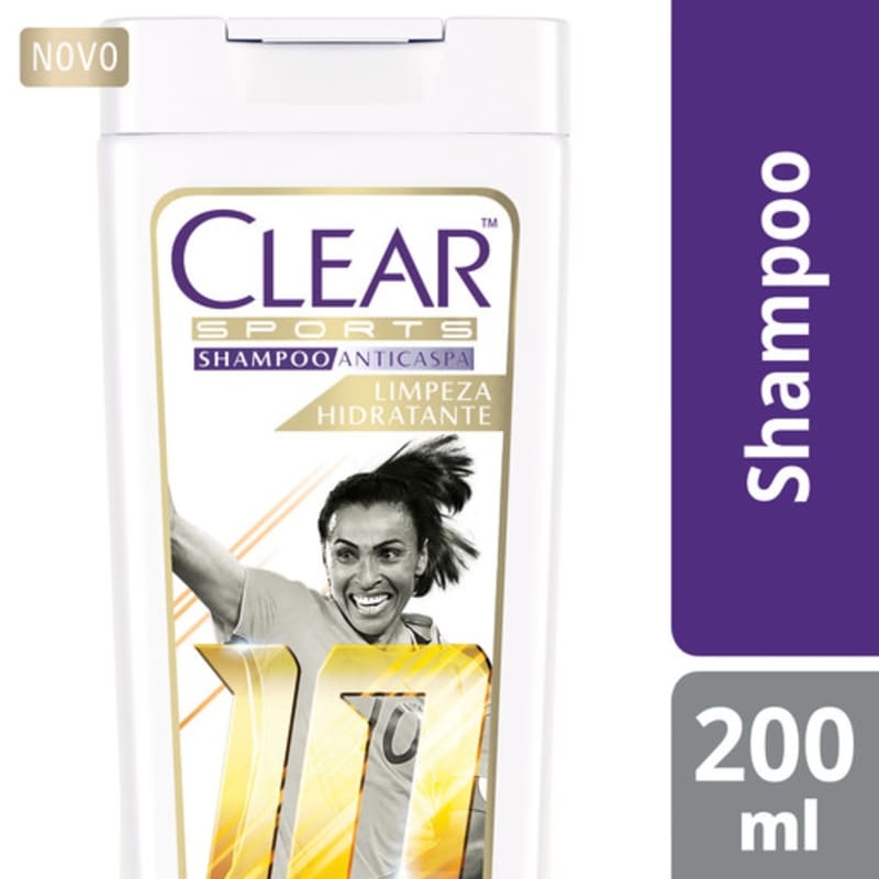 Clear Sports Women Limpeza Hidratante - Shampoo Anticaspa 200ml