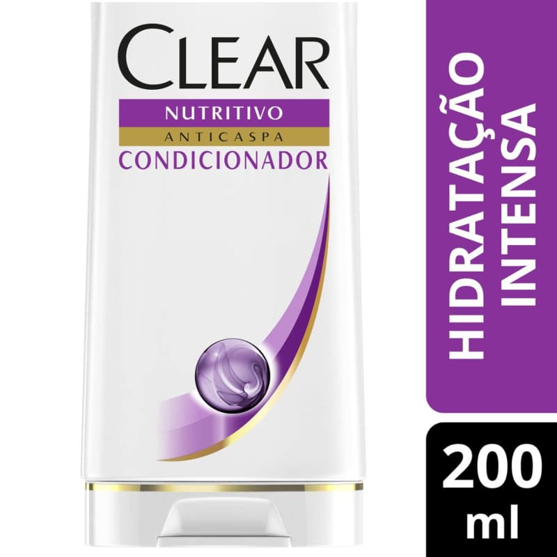 Condicionador Anticaspa Clear Hidratação Intensa 200ml