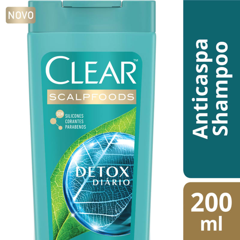 Clear Detox Diário - Shampoo Anticaspa 200ml