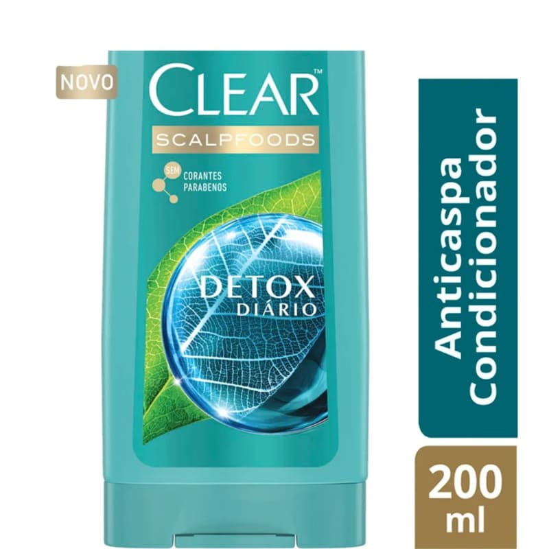 Condicionador Anticaspa Clear Detox Diário 200ml