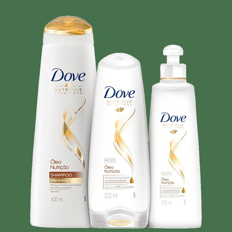 Kit Dove Óleo Nutrição Plus Care (3 Produtos)