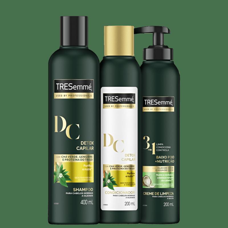 Kit TRESemmé Detox Capilar Co-Wash Light (3 Produtos)