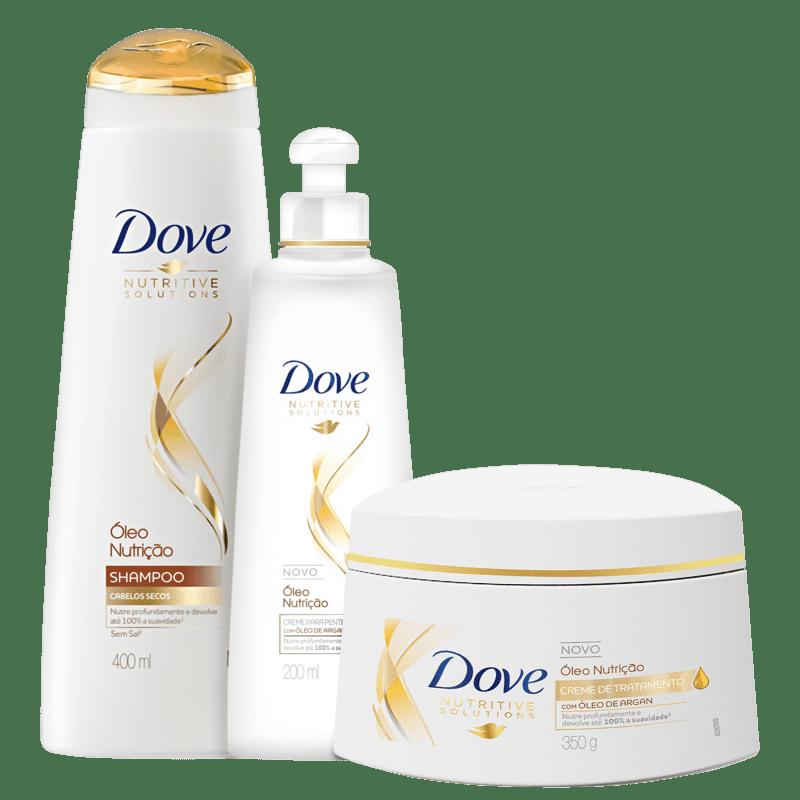 Kit Dove Óleo Nutrição Total Care (3 Produtos)