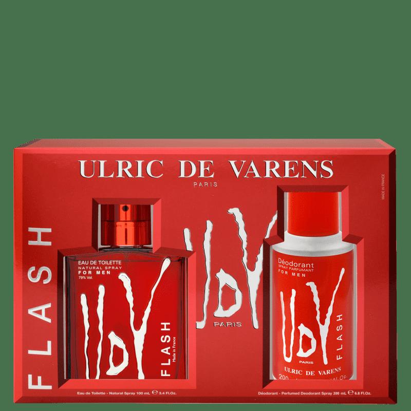 Conjunto UDV Flash Ulric de Varens Masculino - Eau de Toilette 100ml + Desodorante 200ml