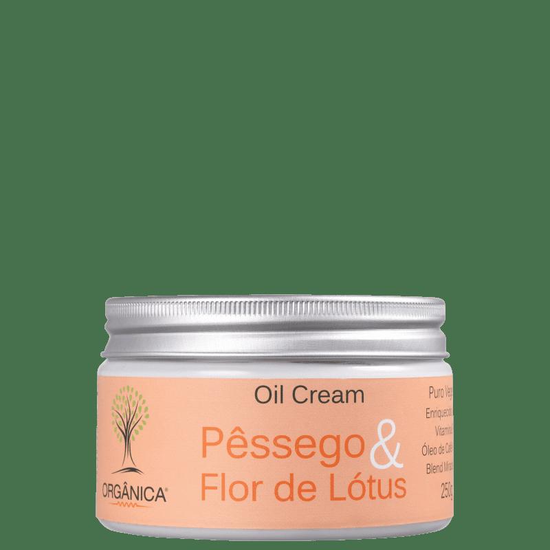 Orgânica Pêssego e Flor de Lótus Oil - Creme Hidratante Corporal 250g