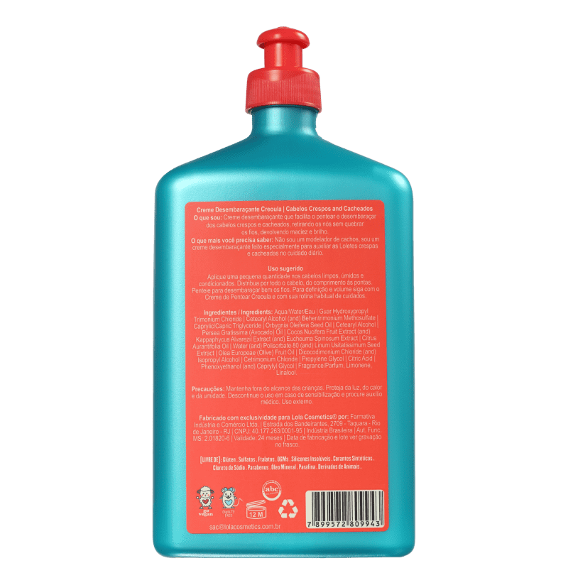 4270a9a69e Creme Lola Cosmetics Creoula Desembaraçante | Beleza na Web