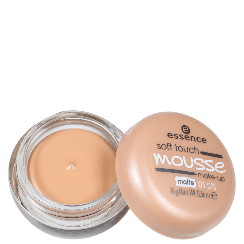 Essence Soft Touch Mousse 01 Matt Sand - Base Cremosa 16g