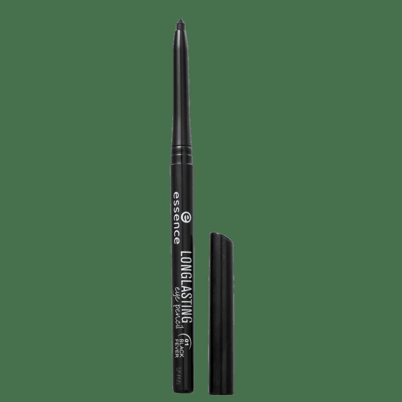 Essence Longlasting 01 Black Fever - Lápis de Olho 0,28g