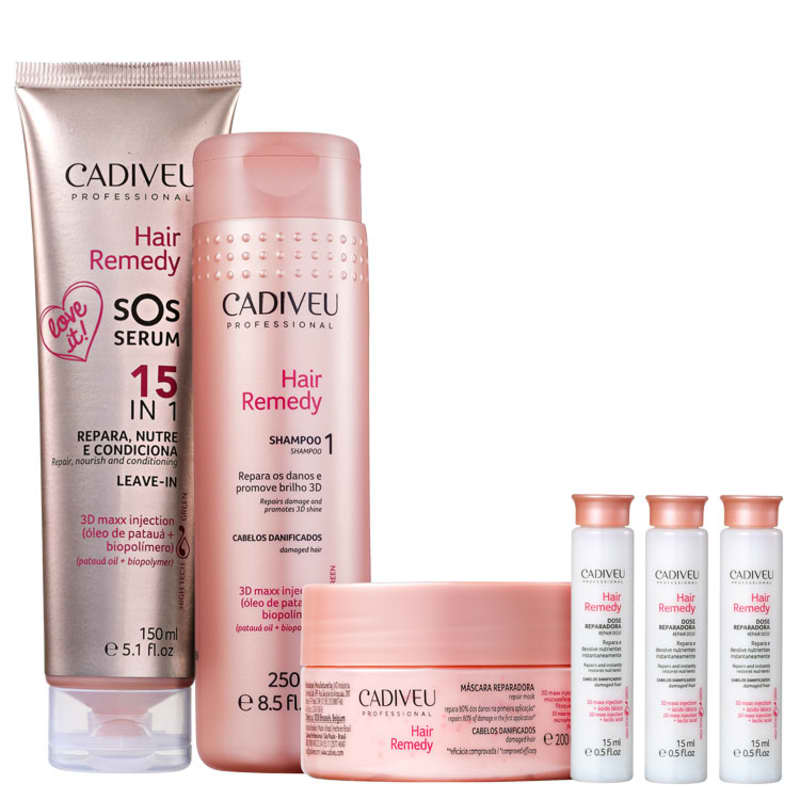 Kit Cadiveu Professional Hair Remedy Full ( 4 Produtos)