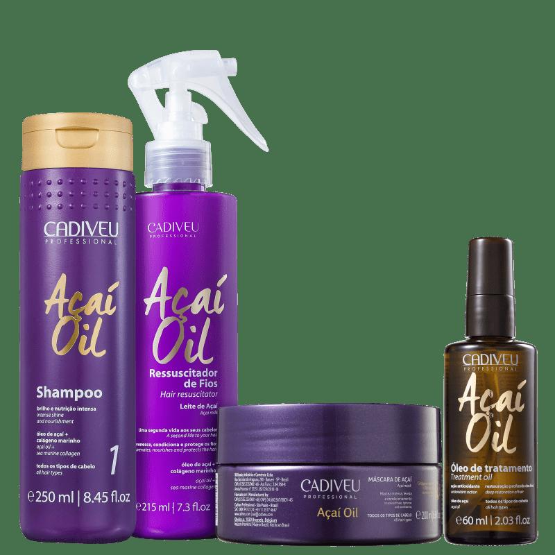 Kit Cadiveu Professional Açaí Oil Ressucita (4 Produtos)