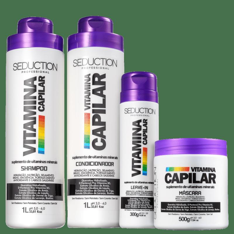 Kit Eico Seduction Vitamina Capilar Full (4 Produtos)