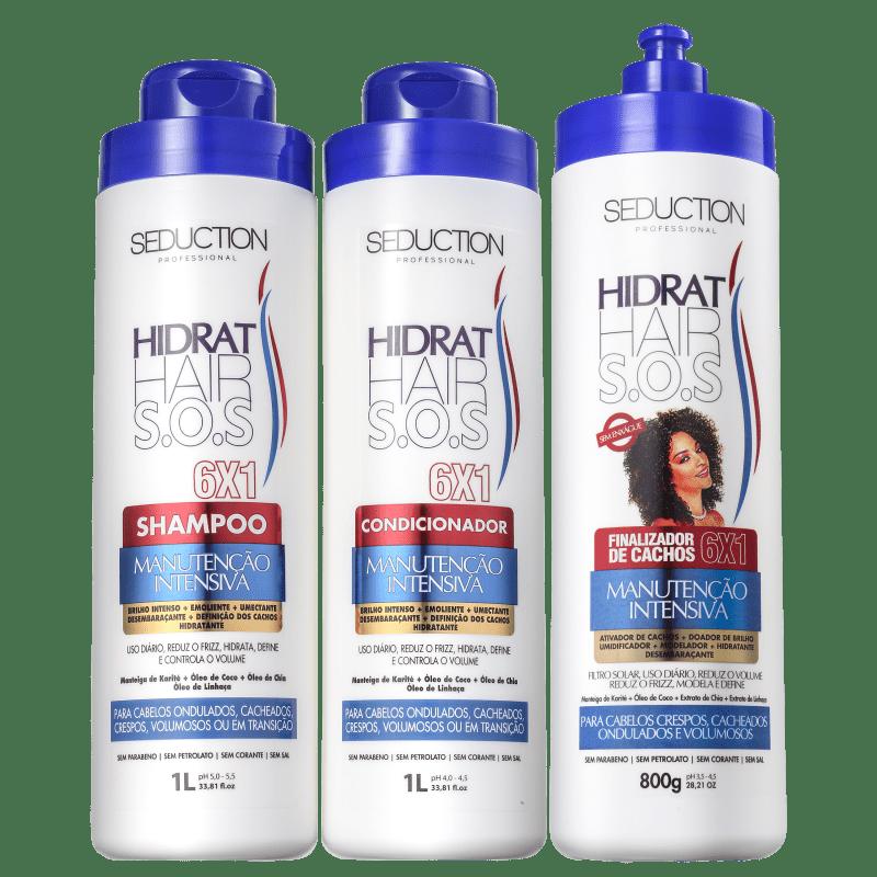 Kit Eico Seduction Hidrat Hair SOS Trio (3 Produtos)