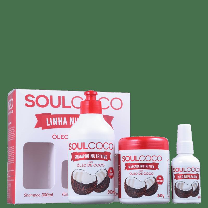 Kit Retrô Cosméticos Soul Coco (3 Produtos)