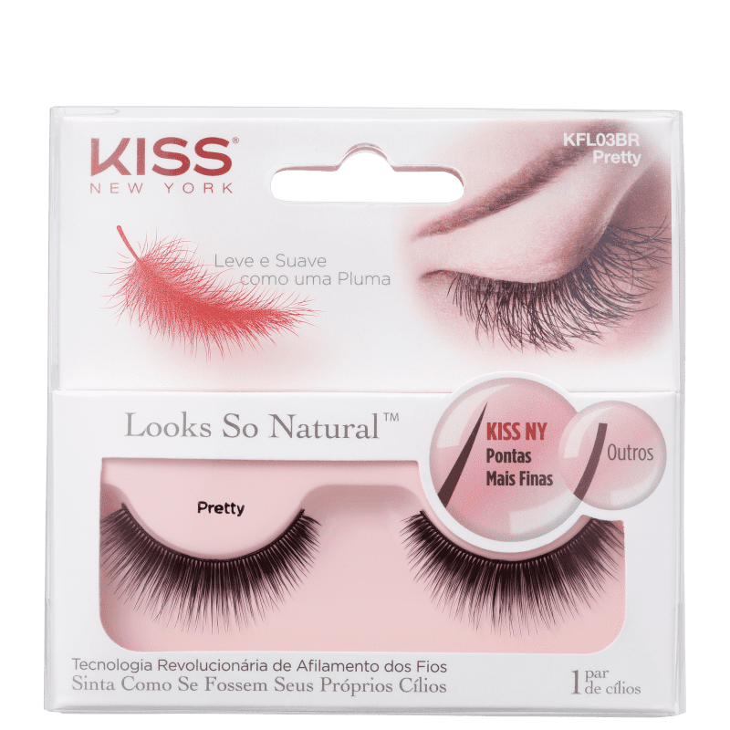 Kiss New York Looks So Natural Pretty - Cílios Postiços 2g