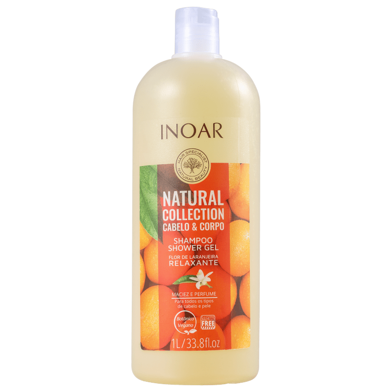 Inoar Natural Collection Cabelo & Corpo - Shampoo 2 em 1 1000ml