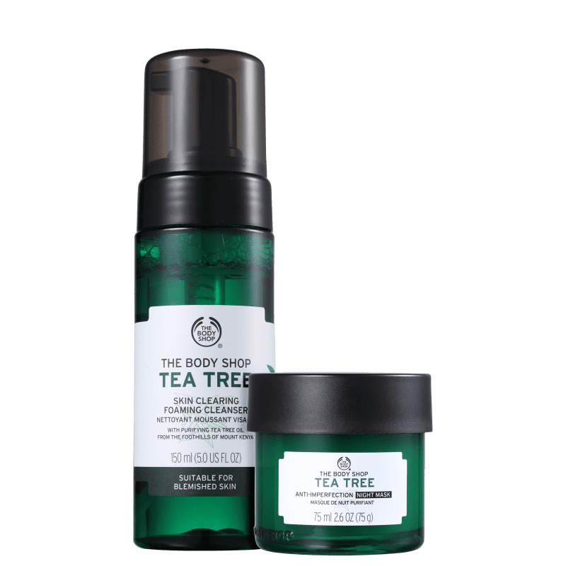Kit The Body Shop Tea Tree Clearing Noite (2 Produtos)