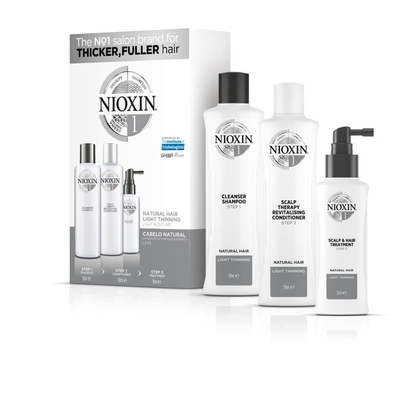 Nioxin Sistema 1 Kit de Tratamento Trial - Pequeno (3 Produtos)