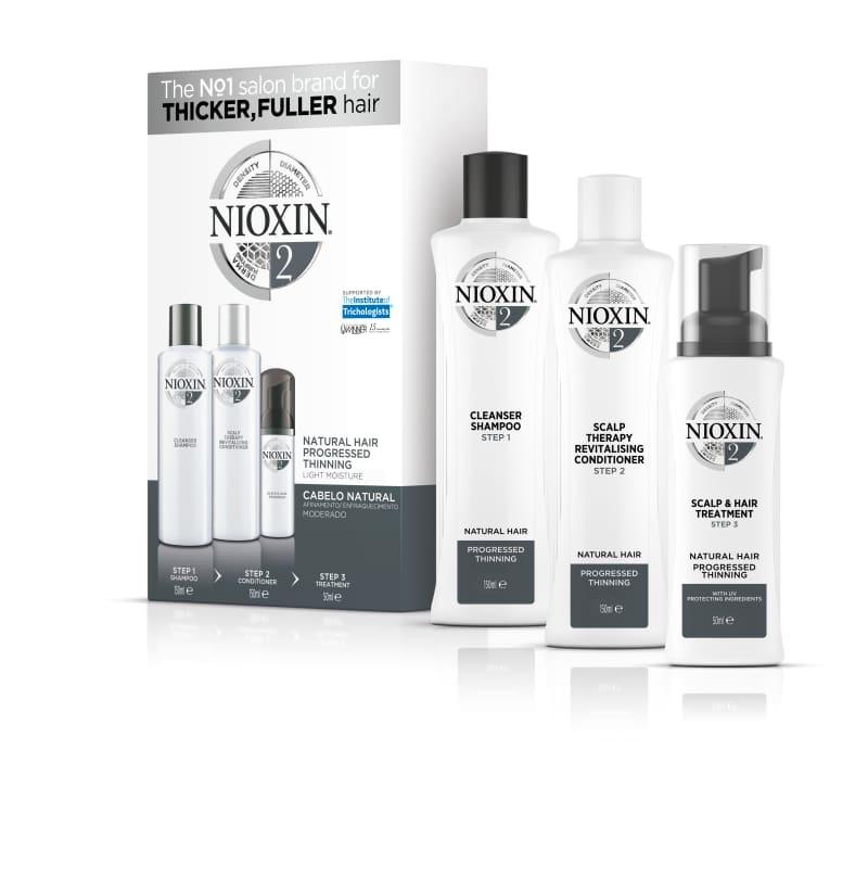 Nioxin Sistema 2 - Kit De Tratamento Trial - Pequeno (3 Produtos)