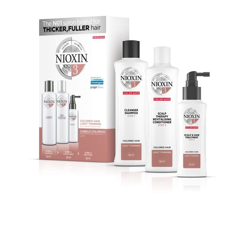 Nioxin Sistema 3 - Kit de Tratamento Trial - Pequeno (3 Produtos)