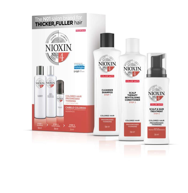 Nioxin Sistema 4 - Kit de Tratamento Trial - Pequeno (3 Produtos)