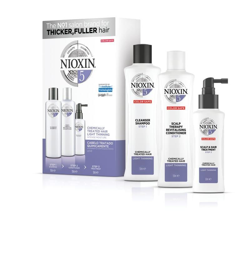 Nioxin Sistema 5 - Kit de Tratamento Trial - Pequeno (3 produtos)