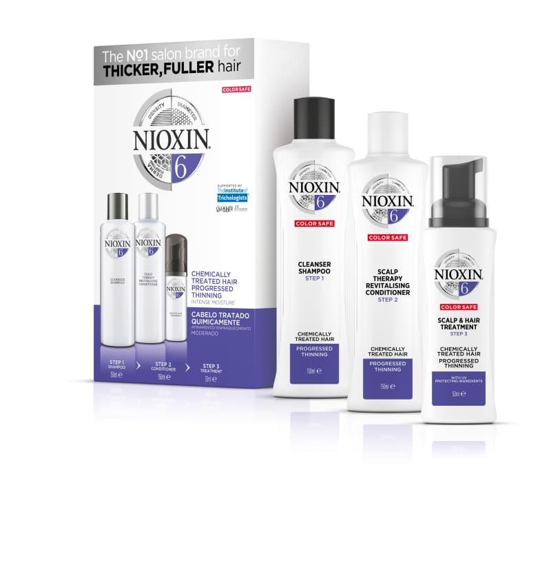 Nioxin Sistema 6 Kit de Tratamento Trial - Pequeno (3 produtos)