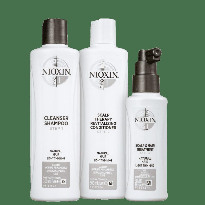 Kit Nioxin System 1 (3 Produtos)